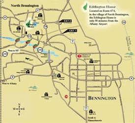 Eddington House Area Map - Click to view larger map